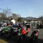 An association of bikers weekend with us at Anduze in Cévennes