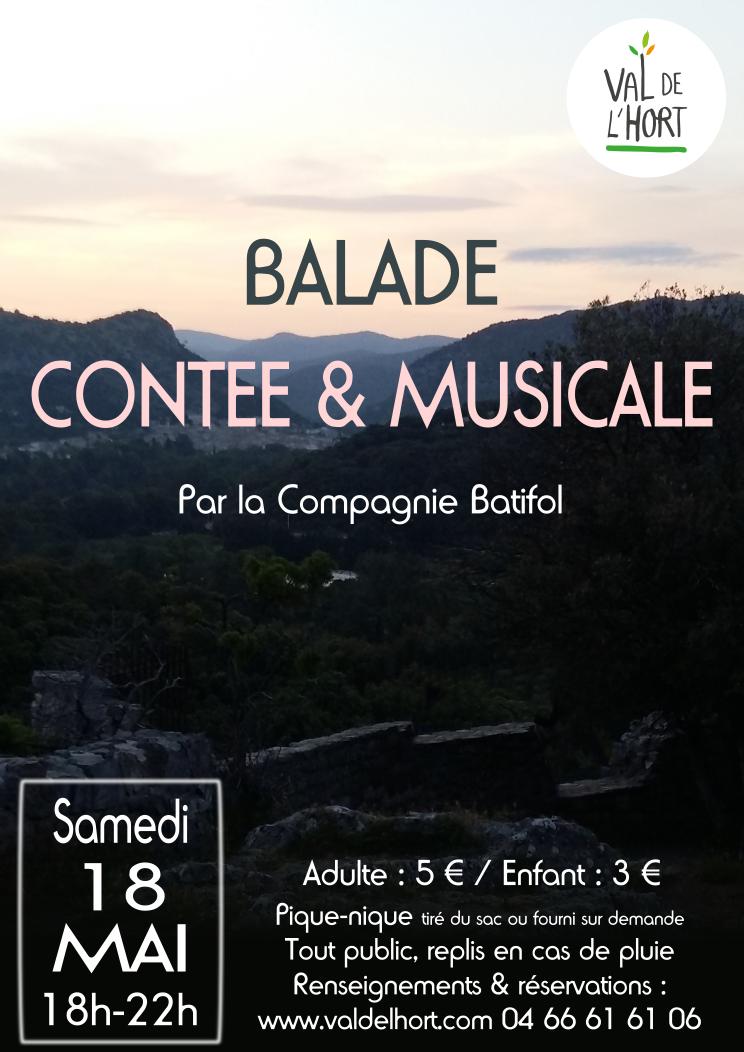 Affiche balade contée Val de l'Hort 18 mai 2019