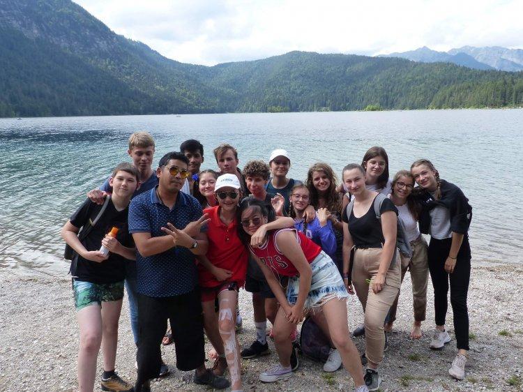 Le groupe Tandem 2019 au lac d'Eibsee