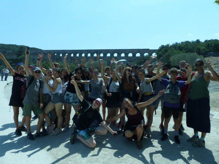 Groupe Tandem 2019 au Pont du Gard