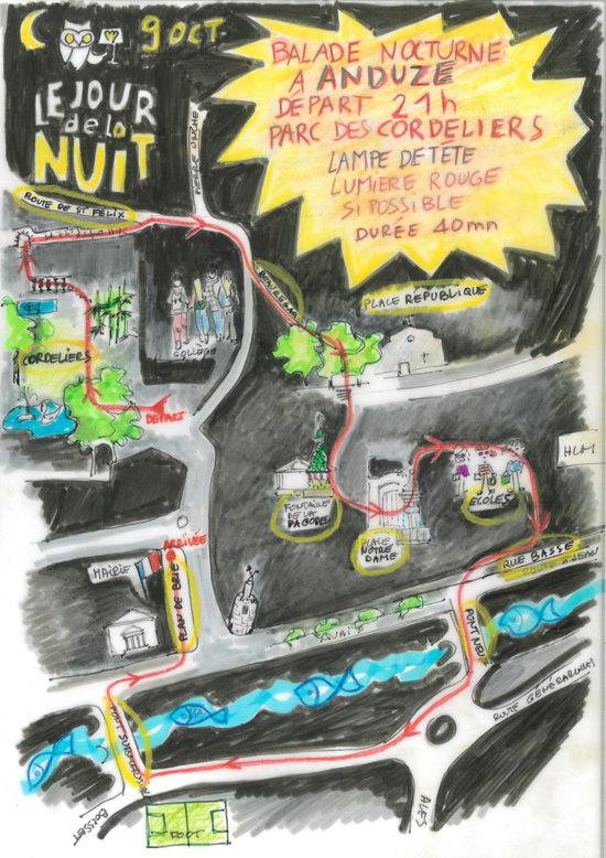 Samedi 9 octobre : balade nocturne Anduze
